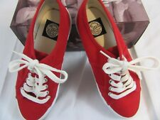 "Women's Gap  ""Tomato"" Red Lawn Sneakers Size 7.5 m"