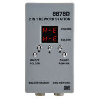 8878D 2-in-1 SMD Rework Station+Hot Air Gun&Soldering Iron for Phone Repair stw