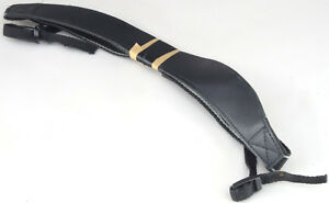 CAMERA Strap Curved Padded Shoulder Leather Standard Length and Fittings