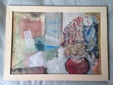 """Original pintura de acrílico, acuarela """"Bodegón con Flores's firmado por el artista"""