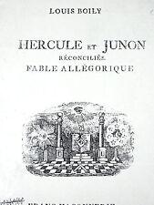 HERCULE ET JUNON Fable Allégorique Franc-Maçonnerie