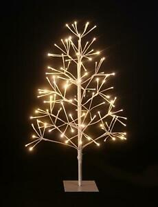4Ft-7Ft Pre-Lit Warm White LEDs Birch Christmas Tree Twig Lights Xmas Home Decor
