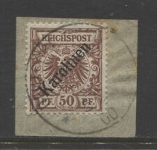 1900 German colonies CAROLINE ISLANDS 50 Pf. early used, signed $ 960.00
