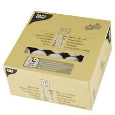 100 weisse Teelichte Ø 38 mm 23 mm mit langer Brenndauer 8 h Teelichter 82674