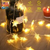 Battery Operated 40LED Star String Light Garden Path Yard Decorate Lamp Outdoor