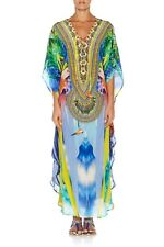 new CAMILLA FRANKS SILK SWAROVSKI THE RITES OF TROPICANA LONG LACE UP KAFTAN