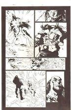 X-Men #195 p.21 - Omega Sentinel vs Pandemic - 2007 Signed art by Humberto Ramos