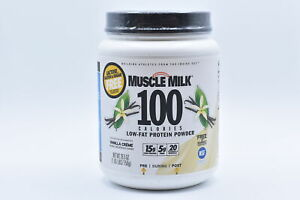 Muscle Milk 100 Calorie Low Fat Protein Powder, Vanilla, 1.65lbs EXP:04/22