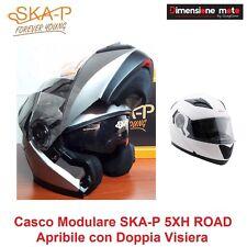 Casco Modulare Doppia Visiera SKA-P 5XH ROAD Argento Lucido Taglia L 59/60 cm