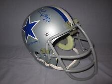 Bob Lilly Cowboys 4 Inscriptions Suspension Authentic Mask Autograph Helmet JSA