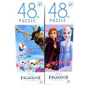 Lot of 2 Disney FROZEN II 48 Piece Jigsaw Puzzles Movie Elsa Anna Christmas H2