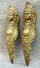 Big antique pair of furniture ornaments  bronze France 19th century caryatids