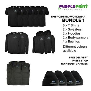 Embroidered workwear bundle logo embroidery - Custom clothing - printed clothes