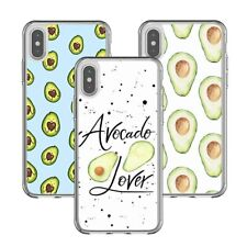 Avocado Lover Fruit Soft Clear Rubber Case Cover for iPhone XS X XR 11 Pro Max