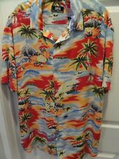 NEW Forever 21 Hawaiian Shirt Men's L Short Sleeve Floral  Red NWOT