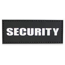 3D PVC Security Patch Rubber Logo Wordmark Writing Hook & Loop Attachment Black