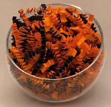 Halloween Orange und Schwarz Zickzack Crinkle Shredded Papier Korb Geschenk Verpackung