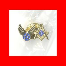 MILITARY GIFT:USAF AIRFORCE AIR FORCE US FREE MASONS'MASONIC LAPEL PIN-FREEMASON