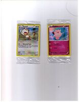 Meowth and Clefairy 20th Anniversary Pokemon Card Toys R Us Exclusive