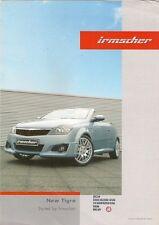 Vauxhall Tigra Irmscher Styling Accessories 2005-06 UK Market Foldout Brochure