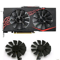 For ASUS GTX 1060-O6G-GAMING Graphic Card Cooling Fan Replacement Cooler Black