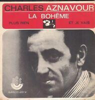 CHARLES AZNAVOUR 45T EP PRESSAGE BRESIL LA BOHEME BIEM BARCLAY RGE 2012