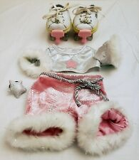 Build a Bear Girl Pink Roller Skating Derby Outfit w Shoes n Skate attachments