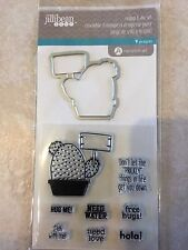 Jillibean Soup Clear Acrylic Stamp & Die Set Stick With Me Cactus JB1288 NEW