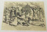 1884 magazine engraving ~ The Rebellion In The Soudan-Women Bewailing