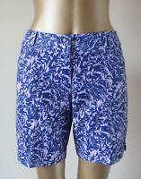 Shorts ADIDAS Womens SIze 14 BNWOT Blue Lilac Geo Print