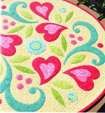 PATTERN - Romance - pretty applique table topper PATTERN - Amanda Murphy