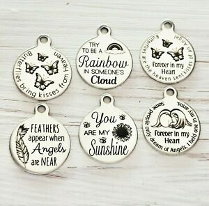 Message Charms * many more * Baby loss memorial remembrance loss of a loved one