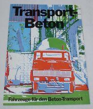 Magirus Deutz - Transport Beton LKW Prospekt von 1972