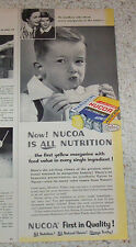 1952 vintage ad - Nucoa yellow margarine CUTE little BOY print ADVERTISING