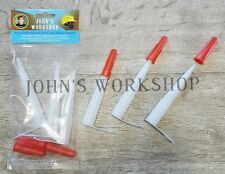 Three Resealable Caulk and Sealant Tube Nozzle Bundle - Features Screw Tight Cap