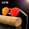 AZB Unisex Bamboo Wood Sunglasses Wooden Temple Frameless Party Glasses