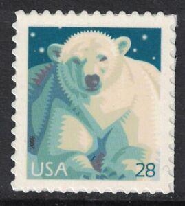 Scott 4387- Polar Ours, Feuille Issue - MNH (S / Un) 28c 2009- Inutilisé Timbres