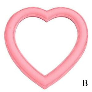 Portable Heart-Shaped Love Makeup Mirror Posted Hanging Mirror Girl Gift S0Y8