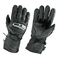 Gallanto Black Motorcycle Armoured Thinsulate Leather Gloves Biker Winter