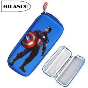 Kid Boy EVA Captain America Zipper Student Pencil Case