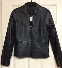 Juniors THERAPY Brand Name BLACK Faux Leather Jacket, Size XL
