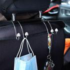 2 pcs Seat Back Organizers Bling Diamond Universal Car Hangers Storage Hooks