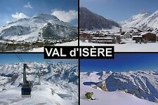 SOUVENIR FRIDGE MAGNET of VAL D'ISERE FRANCE SKIING