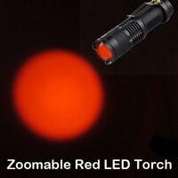 Zoom Red Light Flashlight Star Charts Reading Fishing Hunting Red Light Torch