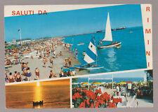 SALUTI DA RIMINI CARTOLINA FG VG 1971 - PAVICART