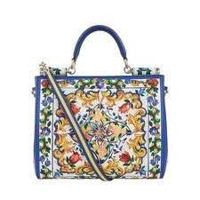 NWT  DOLCE & GABBANA Printed Dauphine Leather Sicily Majolica Bag(end on 6/25)