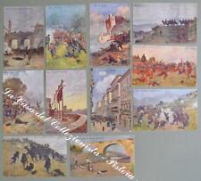 RISORGIMENTO. Undici cartoline d'epoca a colori edizioni Barabino di Genova...