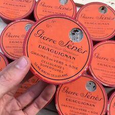 Boite Ancienne Graines de Vers à Soie 1900 Sériciculture Magnanerie Mercerie 2