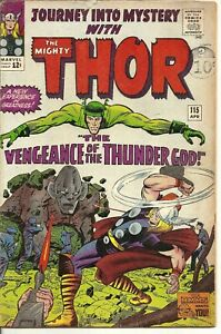 """Journey into Mystery with """"THE MIGHTY THOR!"""" Vol 1 No.115 S.A.Comic Apr.1965."""