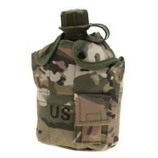 1L Military Camouflage Hiking Camping Water Bottle Bag Canteen Cup Outdoor
